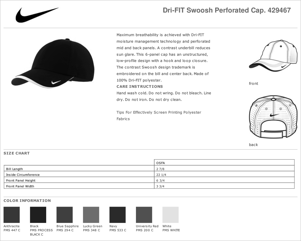 The contrast Swoosh design trademark is embroidered on the bill and center  back. Made of 100% Dri-FIT polyester. 33544e755c9